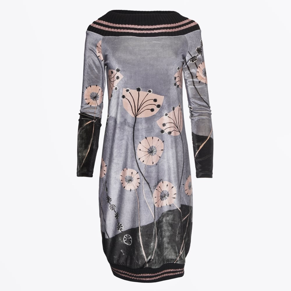 save the queen velvet ribbed detail dress grey mr mrs stitch. Black Bedroom Furniture Sets. Home Design Ideas