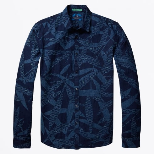 Scotch & Soda - All-Over Printed Cotton Shirt - Combo D