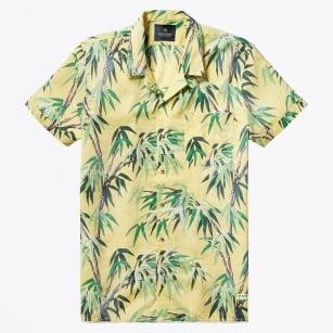 | All-Over Printed Hawaii Collar Shirt - Yellow