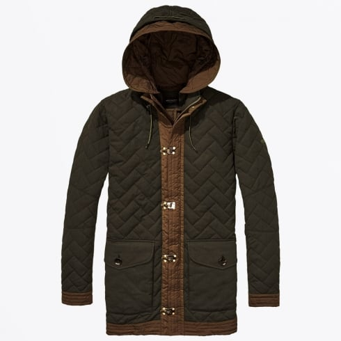 Scotch & Soda - Allover Quilted Parka - Green