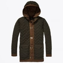 - Allover Quilted Parka - Green