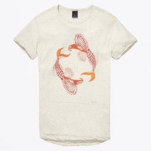 - Artwork Tee - Bone White Melange