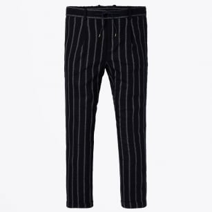 - Blake Pleated Chinos - Navy