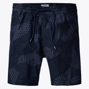 | Chambray Sweat Shorts - Navy