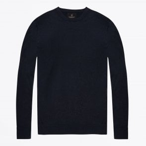 - Classic Cotton Crew Pullover - Navy