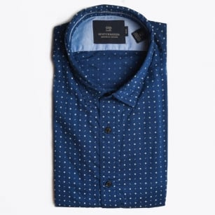 - Classic Dot Oxford Shirt - Navy