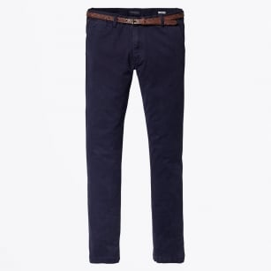 | Classic Garment Dyed Stretch Chino - Navy