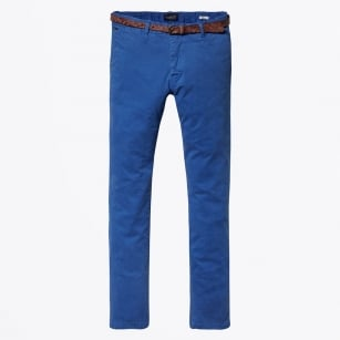 | Classic Garment Dyed Stretch Chinos - Royal