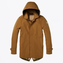 - Classic Hooded Parka - Camel