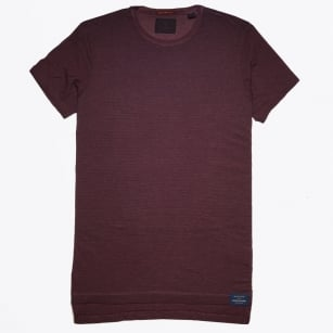 - Classic Stripe T-Shirt - Burgundy