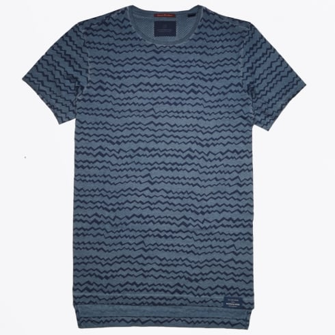 Scotch & Soda - Classic ZigZag T-Shirt - Blue