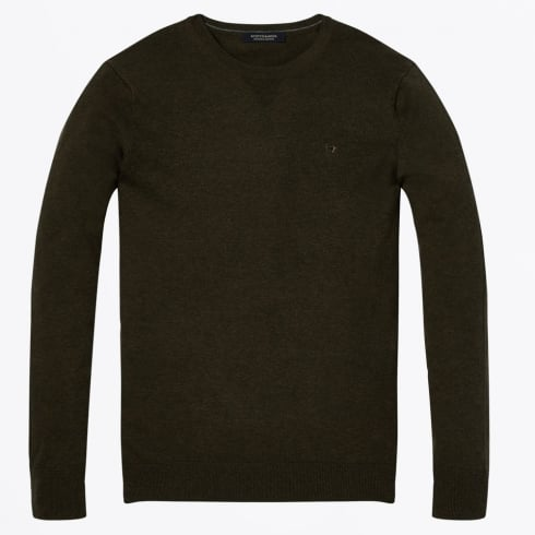 Scotch & Soda - Cotton Crew Neck Pullover - Army