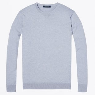 - Cotton Crew Neck Pullover - Lilac