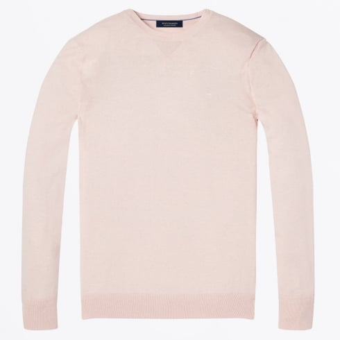 Scotch & Soda - Cotton Crew Neck Pullover - Old Pink