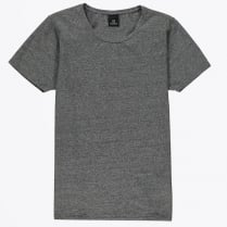 - Cotton Lycra Crew Neck Tee - Charcoal