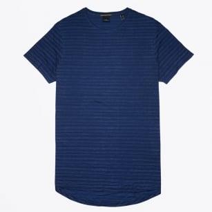 | Cotton Stripe T-Shirt - Indigo