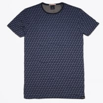 - Crewneck Printed T-Shirt - Navy