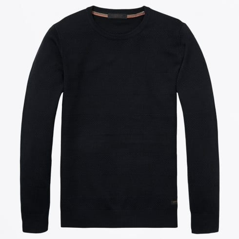 Scotch & Soda - Crewneck Pullover Knit - Night