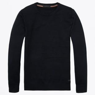 - Crewneck Pullover Knit - Night