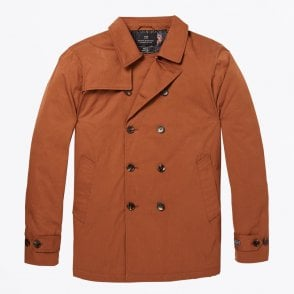 - Double-breasted Trench Coat - Rust