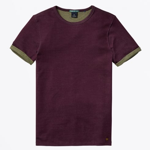 Scotch & Soda - Double Faced Jersey Tee - Deep Purple
