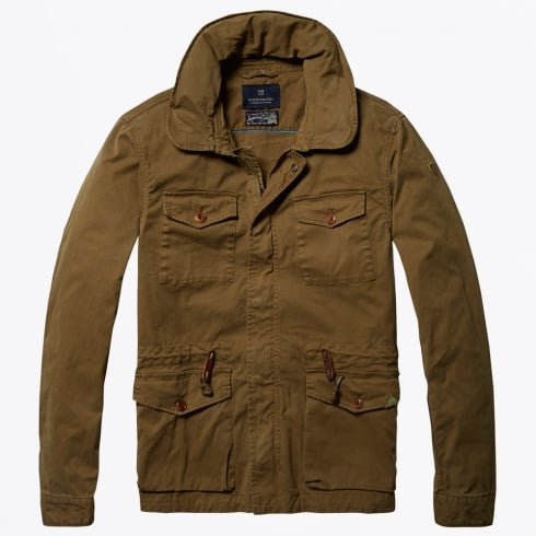 Scotch & Soda - Garment Dyed Field Jacket - Khaki