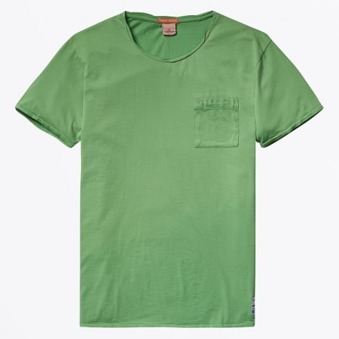 Scotch & Soda - Garment Dyed Twisted Crewneck T-Shirt - Acid Lime
