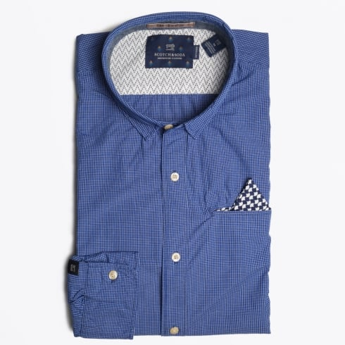 Scotch & Soda - Gingham Check Shirt - Navy