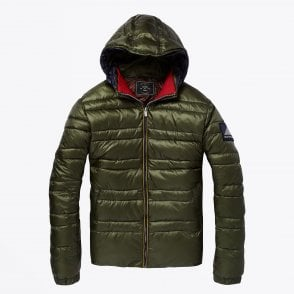 - Hooded Down Jacket - Green