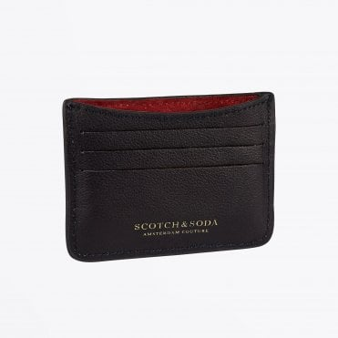 - Leather and Suede Card Holder - Night