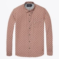 - Long Sleeve Check Shirt - Orange