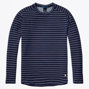 - Long Sleeve Crew Neck Sweater - Combo A - Navy