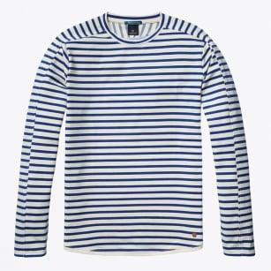 | Long Sleeve Crew Neck Sweater - Combo B - Ecru