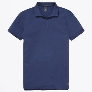 - Melange Jacquard Polo - Night Melange