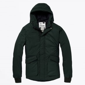 - Mid-Length Hooded Jacket - Green