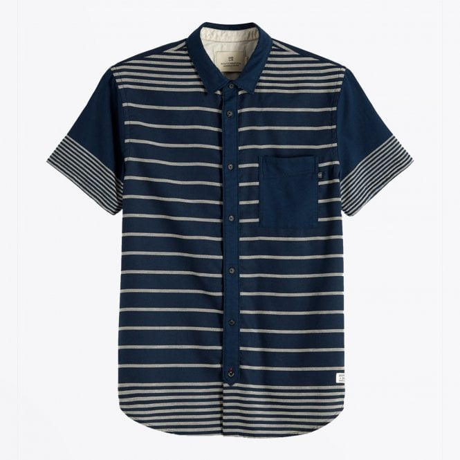 Scotch & Soda - Mixed Stripe Shirt - Navy