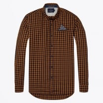 - Over Check Shirt - Orange