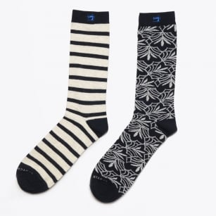 - Pattern Socks - Navy