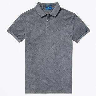   Pique Polo Shirt - Grey Melange