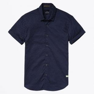 | Poplin Short Sleeved Shirt - Navy
