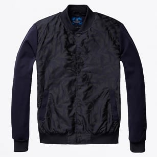 | Printed Bomber Jacket - Combo A - Navy