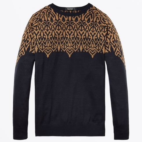 Scotch & Soda - Pullover With Pattern - Navy
