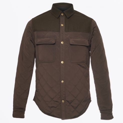 Scotch & Soda - Quilted Shirt Jacket - Army