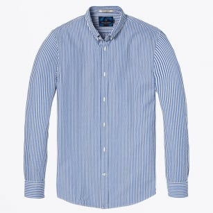 - Seersucker Shirt - Blue