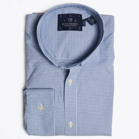 Scotch & Soda - Stitch Down Collar Shirt - Blue