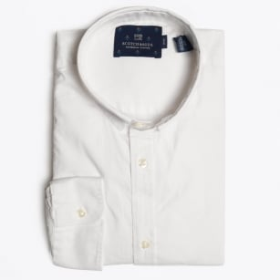 - Stitch Down Collar Shirt - White