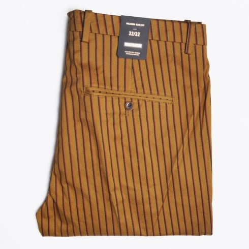Scotch & Soda - Stripe Chino - Mustard