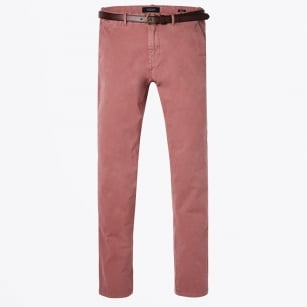 - Stuart Regular Slim Fit Chinos - Old Pink