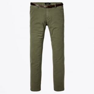 - Stuart Regular Slim Fit Chinos - Sage
