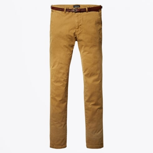 Scotch & Soda - Stuart Regular Slim Fit Chinos - Signal Yell